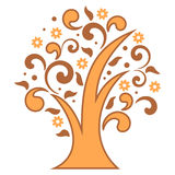 Stylizowany drzewo Fotografia Royalty Free
