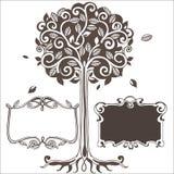 Stylizowany drzewo z ramami również zwrócić corel ilustracji wektora ilustracji