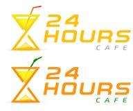 Stylizowany hourglass filiżanki logo Fotografia Stock