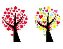 stylizowany ilustraci drzewo Zdjęcia Royalty Free