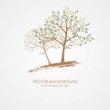 stylizowany karty drzewo Fotografia Royalty Free