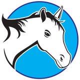 Stylizowany koń w kurendy ramie ilustracji