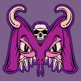 Stylizowany listu M potwora mutant Obrazy Royalty Free