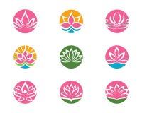 Stylizowany lotosowego kwiatu ikony wektoru tło Obraz Stock