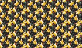 Stylizowany motyli wzór Zdjęcia Royalty Free