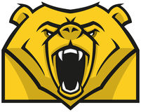 Stylizowany niedźwiedź głowy logo Zdjęcie Royalty Free