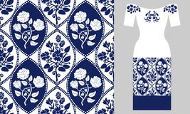 Stylizowany Perski ornament Partyjnej sukni projekt Fotografia Stock