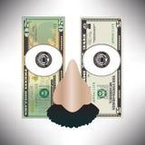 Stylizowany pieniądze ilustracji