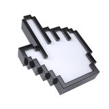 Stylizowany ręka pointer Zdjęcia Royalty Free
