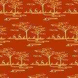 Stylizowany sawanna wzór Zdjęcia Royalty Free