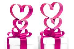 stylizowany serca valentine Obrazy Royalty Free