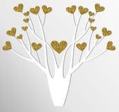 Stylizowany wektorowy drzewo Zdjęcie Stock