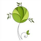 stylizowany zieleni drzewo Zdjęcia Stock