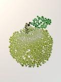 Stylizowany zielony jabłko z kolorowym guzików 3d renderingiem Fotografia Royalty Free