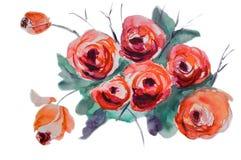 stylizująca kwiat róża ilustracji