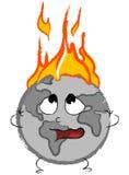 stylizująca płonąca kula ziemska Zdjęcia Royalty Free