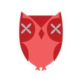 stylizująca sowy czerwień Zdjęcie Stock