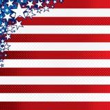 stylizujący amerykański tło Obraz Stock