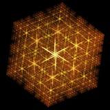 stylizujący fractal płatek śniegu Zdjęcie Stock
