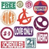stylizujący kolorów znaczki Fotografia Stock