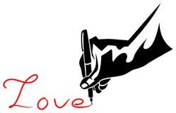 Stylo avec amour Photographie stock libre de droits