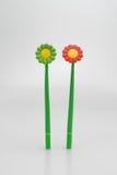 Stylo dans la forme de fleur Photographie stock libre de droits