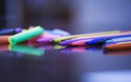 Stylo feutre de couleur Photographie stock libre de droits