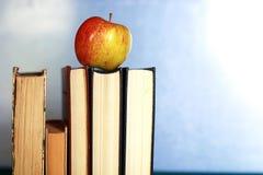Stylo grunge de pomme de pile de livre d'éducation de photo d'effet Images libres de droits