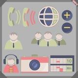 Stylo plat 4 d'icône Images libres de droits
