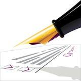 Stylo-plume. le questionnaire Images stock