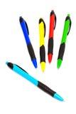 Stylos bille de couleur Photos libres de droits