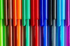 Stylos colorés d'encre Photo libre de droits