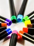 Stylos colorés de fabricants Photographie stock