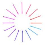 Stylos colorés de plan rapproché d'isolement sur le fond blanc Photo stock