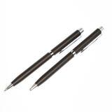 2 stylos d'isolement sur un blanc Image libre de droits