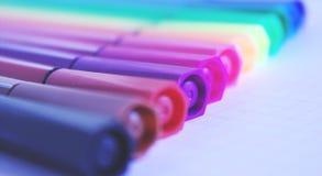 Stylos de couleur Photos libres de droits