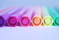 Stylos de couleur Photo libre de droits