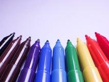 Stylos de marqueur de couleur Images stock