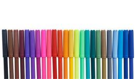 Stylos de marqueur de couleur d'isolement sur le fond blanc Image libre de droits