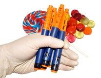 Stylos diabétiques d'insuline Photographie stock libre de droits