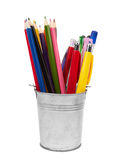 Stylos et crayons Images stock