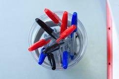 Stylos multicolores Photographie stock libre de droits