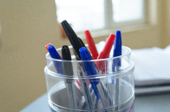 Stylos multicolores Photographie stock
