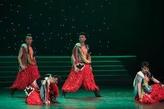 Stylosa手姿势蒙古舞蹈 免版税库存图片