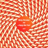Stylowa ilustracja cukierek spirala z teksta terenem Obraz Royalty Free