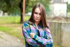 Stylowa nastoletnia dziewczyna Obrazy Royalty Free
