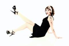 stylowa pinup kobieta obraz stock