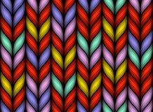 Stylowy Bezszwowy Trykotowy Melange wzór Fotografia Stock