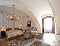 stylowy pokój hotelowy rocznik Obrazy Royalty Free