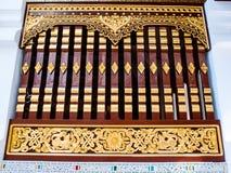 stylowy tajlandzki tradycyjny okno Zdjęcia Royalty Free